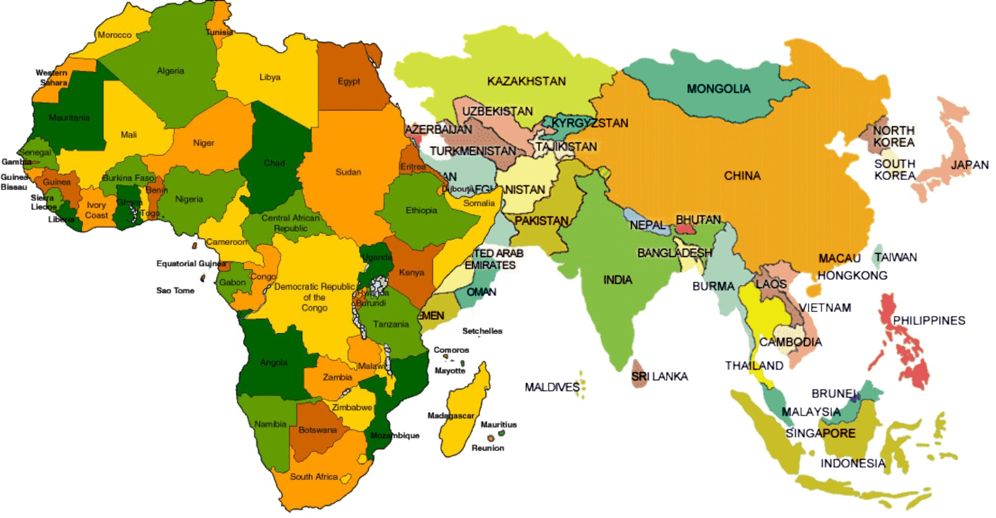 Africa Asia Map
